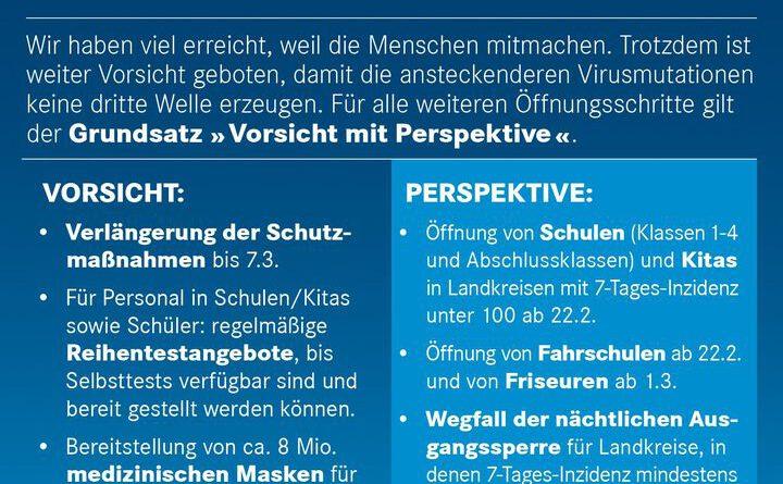 Corona-Pandemie / Verlängerung der 11. Bayerischen Infektionsschutzmaßnahmenverordnung und der Einreisequarantäne-Verordnung bis 7. März 2021